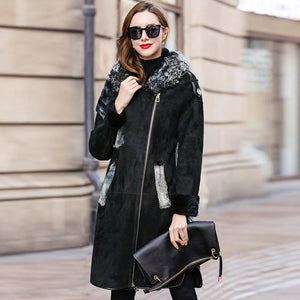 Faced Double Luxury Fur Coat 2020 Winter Coat Women Natural Wool Fur Jacket Women Mink Fur Genuine Sheepskin Coat MY4568