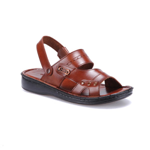 FLO 15 M 1625 Brown Male Sandals Flexall