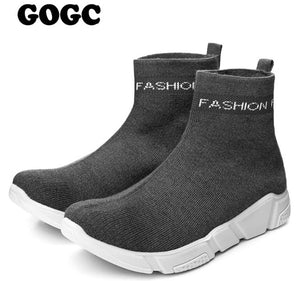 GOGC Summer Woman Sneakers mesh Breathable Sport Shoes Sock platform Causal Shoe for Women basket femme Women Flat Shoe G803