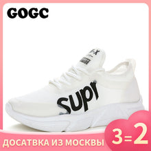 Load image into Gallery viewer, GOGC Ladies platform sneakers female flat Shoes women slipony woman white footwear Sport Shoes Causal Shoes running shoes G682