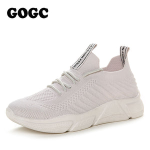 GOGC Ladies platform sneakers female flat Shoes women slipony woman white footwear Sport Shoes Causal Shoes running shoes G682