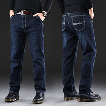 Load image into Gallery viewer, Male Jeans Men Men'S Jean Homme Denim Baggy Pants Trousers Straight Biker Cargo Casual Tactical Military Many Multi-Pocket Black