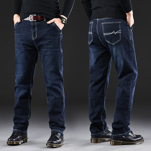 Male Jeans Men Men'S Jean Homme Denim Baggy Pants Trousers Straight Biker Cargo Casual Tactical Military Many Multi-Pocket Black