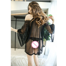 Load image into Gallery viewer, sexy slip dress women intimates lace sheer valentine slip dress See Though Half Slip Body Mesh Transparent Lingerie Dress