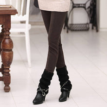 Load image into Gallery viewer, Women Winter Pants High Waist Skinny Pants Women Warm Khaki Thicken Velvet skinny Pencil Style Pant Legins Feminina Trousers 4XL
