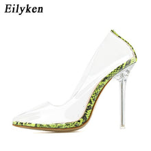 Load image into Gallery viewer, Eilyken Clear PVC Transparent Pumps Sandals Perspex Heel Stilettos High Heels Point Toes Womens Party Shoes Nightclub Pump 35-42