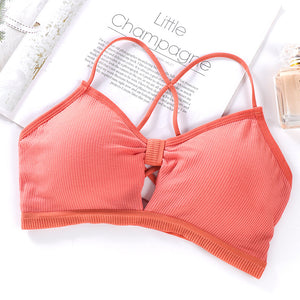 Strapless Strap Sexy Bras Tube Tops Women Invisible Bra Crop Top Back Closure Bandeau Top Female Soft Comfortable Intimates