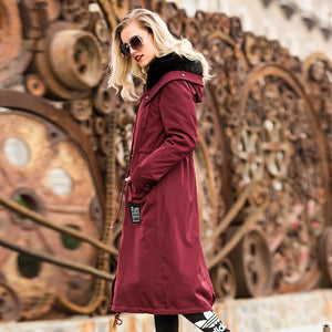AYUNUSE Real Fur Parka 2020 Winter Jacket Women Luxury Natural Mink Fur Coat Female Korean Long Trench Coats Warm Outwear MY3621