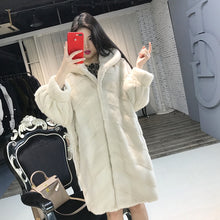 Load image into Gallery viewer, Real Fur Coat Women Winter Mink Fur Coat Thick Plus Size Jacket Top Quality Hooded Outwear Casaco Inverno 1506 MF335