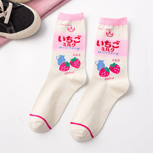 CHAOZHU New Men Women Swag Cool Girls Boys Hip Hop Skateboard Street Awesome Grunge Fashion Teens Skr Indie Style Socks Causal