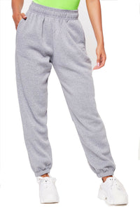 New ladies trousers casual sports pants plain track jogging pants haul two pockets beam hip hop loose cotton sweatpants
