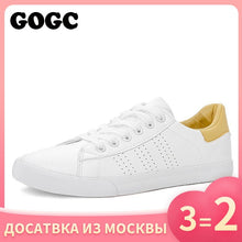 Load image into Gallery viewer, GOGC White Sneakers Women canvas shoes Spring Summer ons Women Sneakers Flat Shoes Women's slipony women casual G788