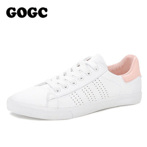 GOGC White Sneakers Women canvas shoes Spring Summer ons Women Sneakers Flat Shoes Women's slipony women casual G788