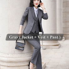 Load image into Gallery viewer, Lenshin Women Quality Suit Set Office Ladies Work Wear Women OL Pant Suits Formal Female Blazer Jacket  Vest trousers 3 Pieces