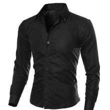 Load image into Gallery viewer, Spring Autumn Men's Slim Fit Long Sleeve Dark Solid Color Lapel Top Large Size Shirt Casual Button Size S-5XL Shirts