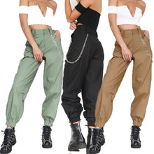 Load image into Gallery viewer, Spring Woman Solid Color Pants Cargo High Waist Pants Loose Trousers Joggers Women Camouflage Sweatpants Streetwear