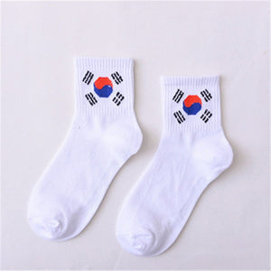 Summer Ladies Short Socks  Korea Japanese Cotton Flame Harajuku Socks Girl Cartoon Cactus Gun  Funny Female Socks