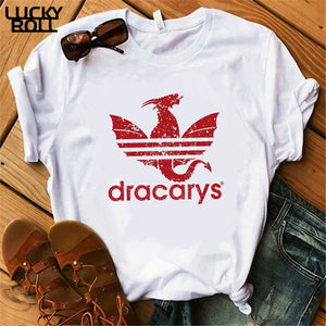 Dracarys T-Shirt Female Mother of Dragon Tops Tee Harajuku khaleesi Camisetas Daenery Dragon Got women summer Clothing