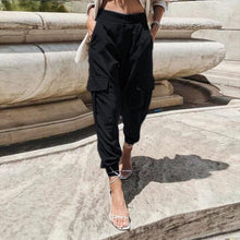 Load image into Gallery viewer, ZANZEA Women High Waist Cargo Pants Loose Streetwear Pants Baggy Tactical Trousers Solid Joggers Turnip Pants Harem Pantalon