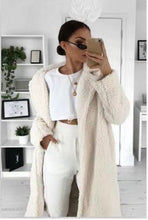 Load image into Gallery viewer, LOOZYKIT Autumn Winter Fur Women 2019 Casual Loose Solid Long Teddy Coat Female Vintage Thick Faux Fur Jackets Plush Overcoat