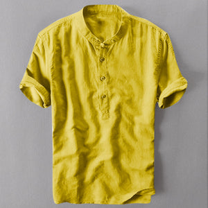 Summer Men's Cool And Thin Breathable Collar Hanging Dyed Gradient Cotton Shirt M-3XL best gift Purchasing new