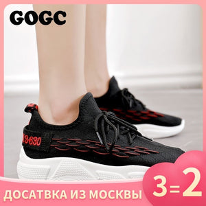 GOGC Shoes Woman Sneakers zapatos de mujer Female platform Lace Up Causal Shoe for Women basket femme chaussures Flat Shoe 690