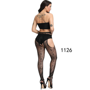 New Arrival Solid Stockings Women Sexy Thigh High Fishnet Nylon Long Socks Sex Belt Standard Over Knee Socks Sexy Lingerie