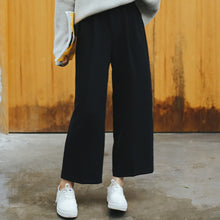 Load image into Gallery viewer, Wide Leg Pants Ulzzang Women Solid High Waist Trousers Pleated Loose Casual Elegant Womens Korean Style Chic School Daily Girls