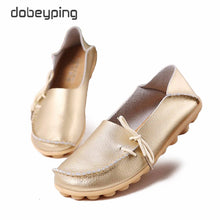 Load image into Gallery viewer, New Moccasins Women Flats 2019 Autumn Woman Loafers Genuine Leather Female Shoes Slip On Ballet Bowtie Women's Shoe Size 35-44