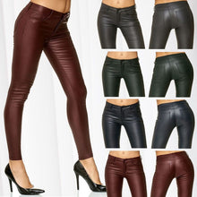 Load image into Gallery viewer, ZOGAA Women PU Leather Pants Skinny Sexy Trousers 2019 New Fashions Solid Pencil Pants Ladies Pants Biker Art Leather Trousers