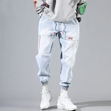 Load image into Gallery viewer, Hip Hop Streetwear Harem Jeans Pants Men Loose Joggers Denim Casual Sweatpants Korea Ankle length Trousers
