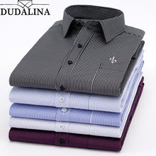 Load image into Gallery viewer, Dudalina New 2020 Men Long Sleeve Shirts Male Striped Classic-fit Comfort Soft Casual Button-Down Shirt Casual Male Shirt Tops