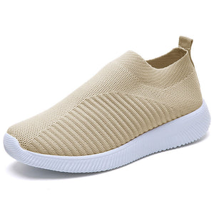 Women Spring Sneakers 2020 Summer Slip on Knitting Flats Casual Lofers Ladies Trainers Fashion Footwear Mocassin Femme 2020