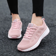 Load image into Gallery viewer, Women Casual Shoes Fashion Breathable Walking Mesh Lace Up Flat Shoes Sneakers Women 2019 Tenis Feminino Zapatillas Mujer