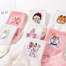Load image into Gallery viewer, High Quality Cute Elegant Lovely Kawaii Cartoon Sweet Harajuku Cotton Women Socks Animals Character Casual Short Socks Hot