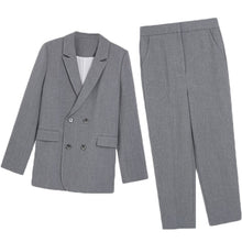 Load image into Gallery viewer, Work Fashion Pant Suits 2 Piece Set for Women  Blazer Jacket & Trouser Office Lady Slim Casual Fashion Suit Spring  summer 2019
