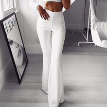 Load image into Gallery viewer, Autumn Sexy Women High Waist Long Pants OL Ladies Career Solid Palazzo Slim Flare Wide Leg Trousers Female Harem Palazzo Pants