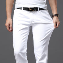 Load image into Gallery viewer, Men's White Jeans Fashion Casual Classic Style Slim Fit Soft Trousers Male Brand Advanced Stretch Pants
