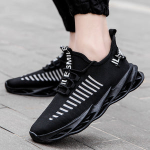 Hot Cool Fashion Autumn Sneakers Handiness Casual Shoes Men Color Stitching Sneaker Male Flyknit Breathable Lace Up Casual Shoes