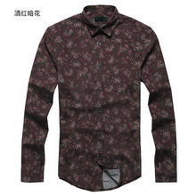 Load image into Gallery viewer, New Fashion Casual Men Shirt Long Sleeve Europe Style Slim Fit Shirt Men High Quality Cotton Floral Shirt S2124