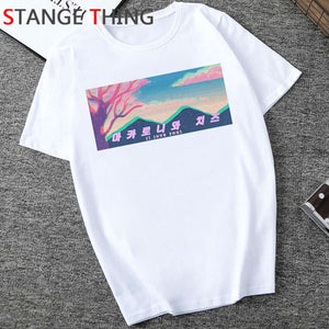 Vaporwave Cool Print T Shirt Men Hip Hop Unisex Aesthetic T-shirt Fashion Funny Cartoon Tshirt Grunge Streetwear Top Tees Male