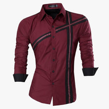 Load image into Gallery viewer, Jeansian Spring Autumn Features Shirts Men Casual Jeans Shirt New Arrival Long Sleeve Casual Slim Fit Male Shirts Z030