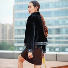 Load image into Gallery viewer, Coat Winter Autumn Women 2020 Korean Style Short Real Fur Coat Natural Sheep Shearing Coats Leather Fur Jacket WYQ1682 s