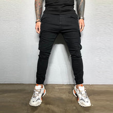 Load image into Gallery viewer, Pants Men Streetwear Sweatpants Zipper Pure Color Overalls Casual Pocket Sport Work Casual Trouser Pants pantalones hombre Z4