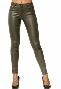 ZOGAA Autumn Women Leather Pants Women Female Winter High Waiste Pants Leather Trousers Women PU Skinny Stretch Pencil Pantalons