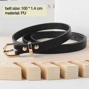 Luxury brand belt black woman gold buckle leather belts for women jeans fashion ladies girls waist ceinture femme waistband 2019