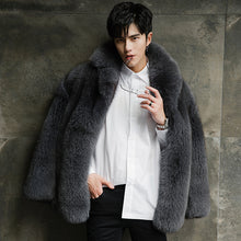 Load image into Gallery viewer, Men Fur Coat 100% Real Fox Fur Jacket Winter Natural Fur Coat and Jacket New Arrival Manteau Homme Hiver 18289-2 KJ1424