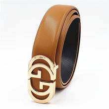 Load image into Gallery viewer, Luxury Designer Belt for Men Women Double G Smooth Buckle Strap High Quality Genuine Real Leather Belt Fashion Jeans Belt