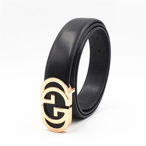 Luxury Designer Belt for Men Women Double G Smooth Buckle Strap High Quality Genuine Real Leather Belt Fashion Jeans Belt