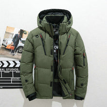Load image into Gallery viewer, Thick Warm Winter Coat Men Hooded Casual Outdoor Man Down Jacket Parka Fashion Windbreaker Mens Overcoat